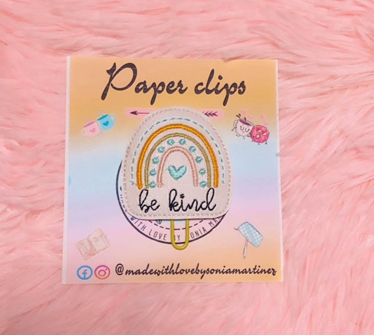 Be Kind Rainbow Paper Clip