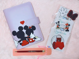 Mickey And Minnie Cover Notebook Binder Box