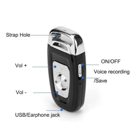 Car Key Voice Recorder