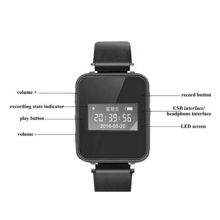 Voice Recorder Watch 8GB