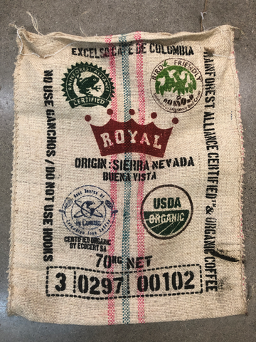 Colombia Bird Friendly® Burlap Coffee Bag *RARE*