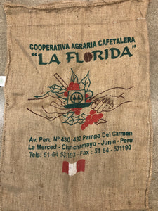 Peru Bird Friendly® Burlap Coffee Bag