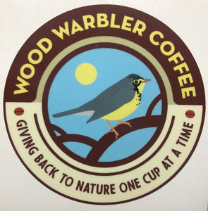 "3"" Wood Warbler Coffee decal"