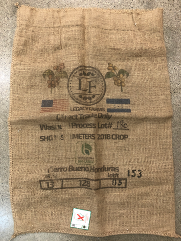 Honduras Legacy Farms Burlap Coffee Bag