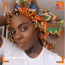 Load image into Gallery viewer, Abena Satin-lined Adjustable Bonnet