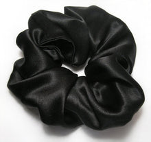Load image into Gallery viewer, Satin Scrunchies - Black