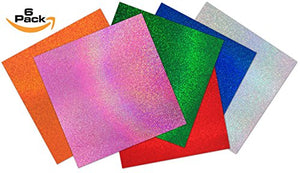 "Craftopia's Sparkles Self Adhesive Vinyl Sheets | 12"" x 12"" 