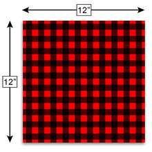 "Load image into Gallery viewer, Craftopia Buffalo Plaid Vinyl Self Adhesive Sheets | 3-Pack 12"" x 12"" 