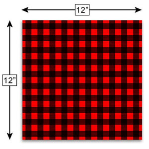 "Craftopia Buffalo Plaid Vinyl Self Adhesive Sheets | 3-Pack 12"" x 12"" 