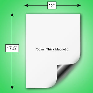 "White Magnetic Dry Erase Sheets, 12"" x 17.5"", 5 Pack"