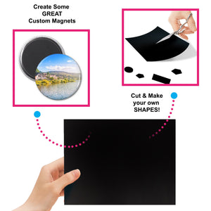 "Magnetic Adhesive Sheets, 4"" x 6"" 12 Pack"