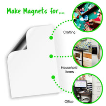 "Load image into Gallery viewer, White Magnetic Dry Erase Sheets, 11.75"" x 16"", 5 Pack"