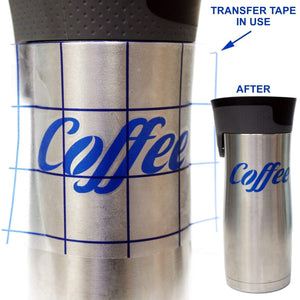 "Transfer Tape with Blue Alignment Grid, 12"" x 25' Roll"