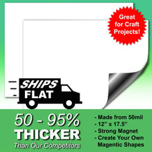 "Load image into Gallery viewer, White Magnetic Dry Erase Sheets, 12"" x 16"", 2 Pack"