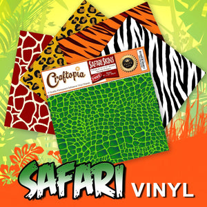 "Safari Self-Adhesive Vinyl Sheets, 11.75"" x 11.75"", 4 Pack"