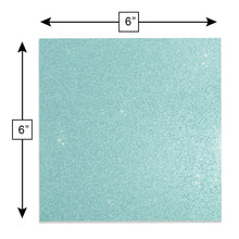 "Load image into Gallery viewer, Glitter Self-Adhesive Vinyl Sheets, 6"" x 6"", 20-pack"