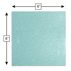 "Glitter Self-Adhesive Vinyl Sheets, 6"" x 6"", 20-pack"