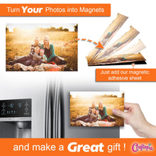 "Load image into Gallery viewer, Magnetic Adhesive Sheets, 4"" x 6"" 12 Pack"