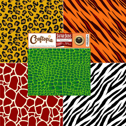 Safari Self-Adhesive Vinyl Sheets, 11.75