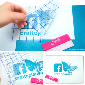 "Transfer Tape with Blue Alignment Grid, 12"" x 12"" Sheets, 5 Pack"