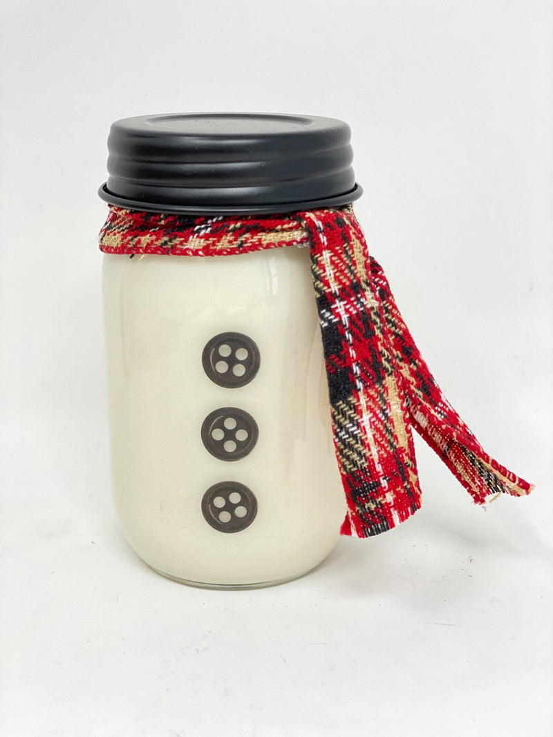 Snowman Christmas Candles - 16 oz Jumbo Soy Wax