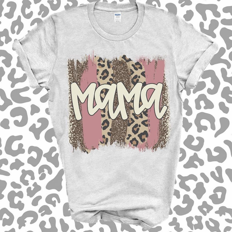 Mama Leopard and Mauve Graphic Tee
