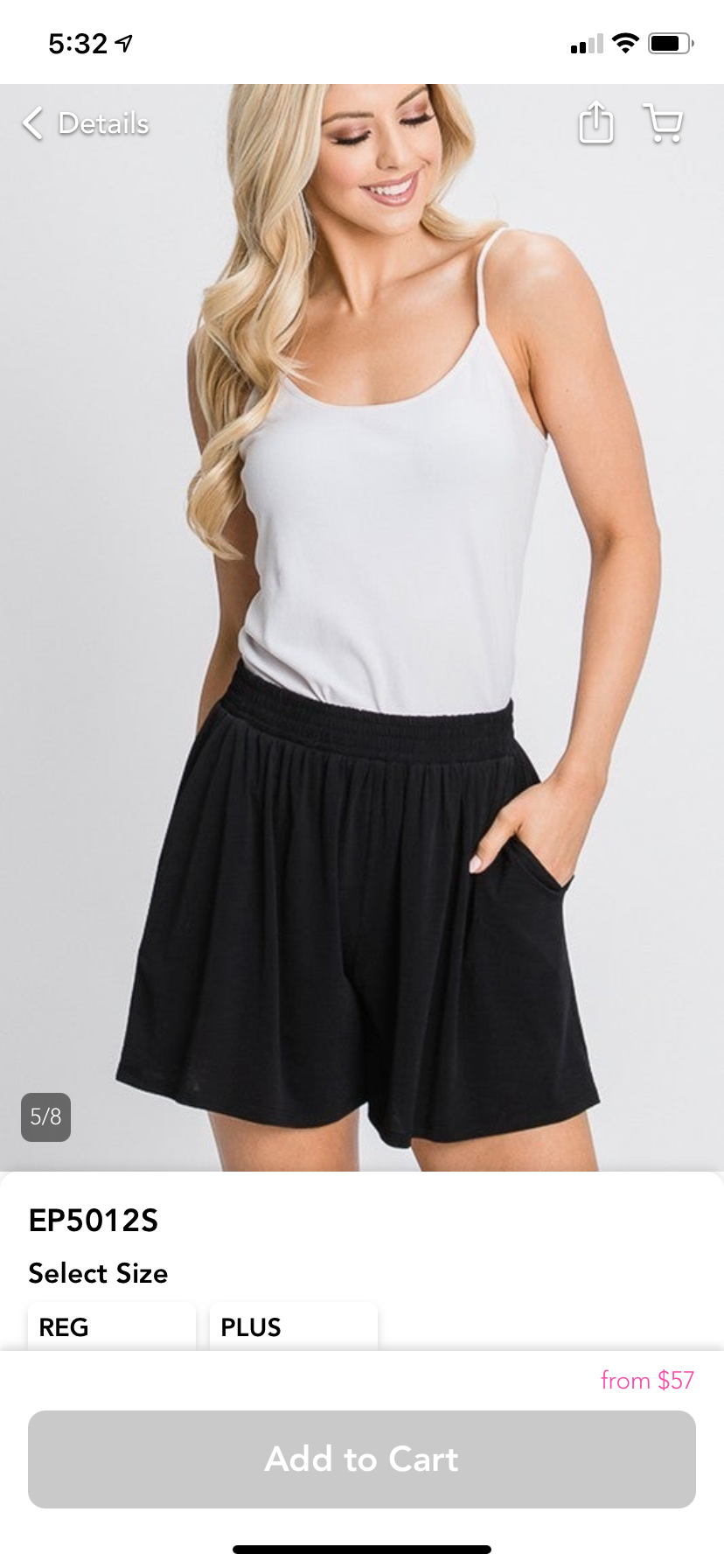 Black French Terry Shorts with pockets