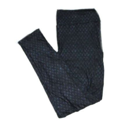 Pocket Leggings: Black Dragonscale