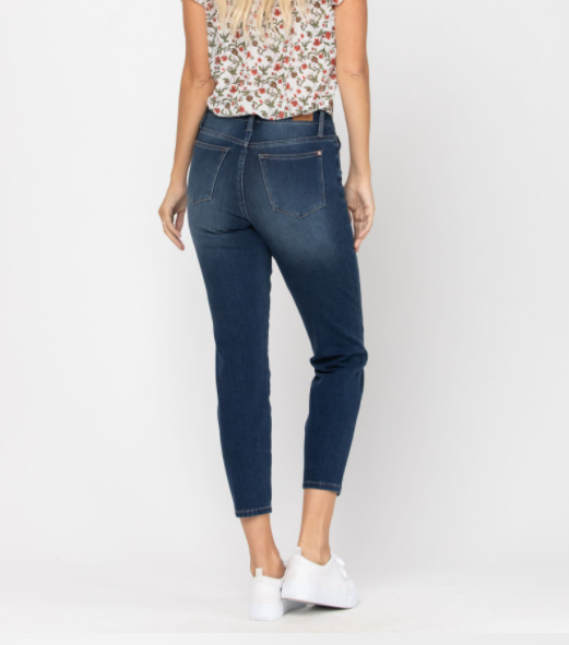 Judy Blue Boyfriend Jeans Crop High waist
