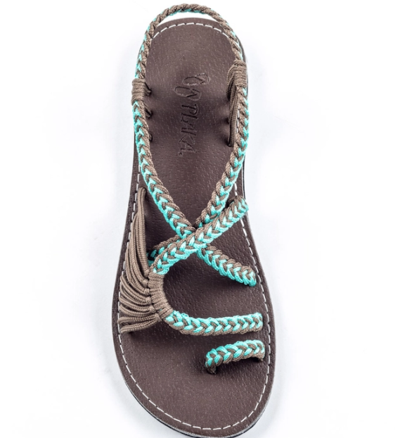 Plaka Palm Leaf Flat Summer Sandal - Various Colors