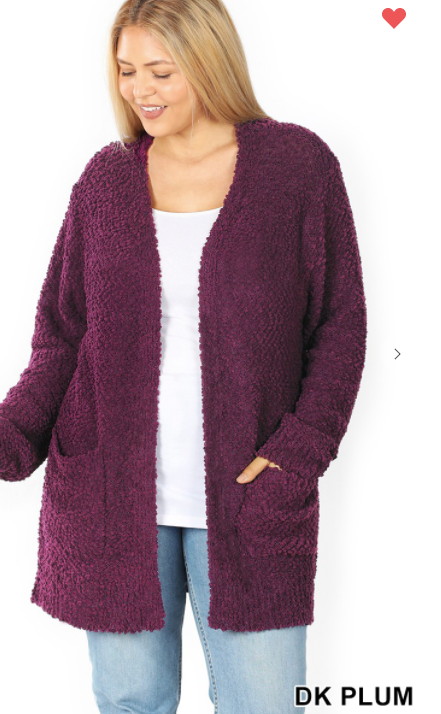 COZY POPCORN CARDIGAN WITH POCKETS
