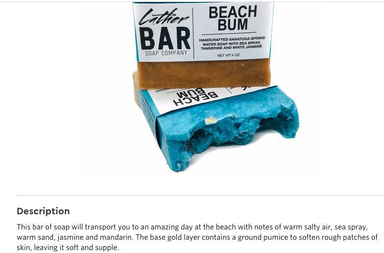 Beach Bum Artisan Soap - Feather & Quill Boutique