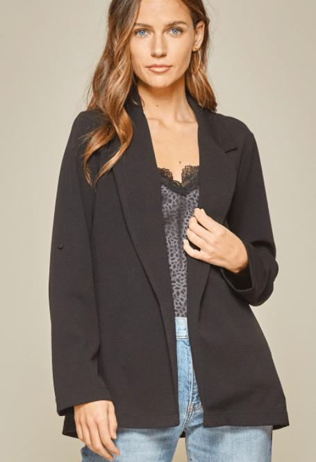 Boyfriend fit Jacket - Feather & Quill Boutique