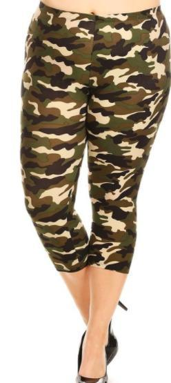 Camo Capri Leggings - buttery soft and stretchy-Feather & Quill Boutique