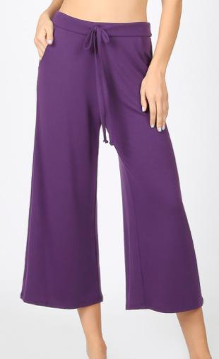 Capri Loose Fit Lounge Pants - Multiple Colors-Feather & Quill Boutique