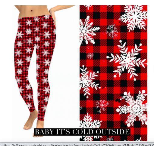 Christmas Leggings - Baby It's Cold Outside - Feather & Quill Boutique