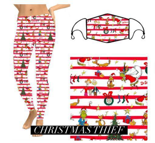 Christmas Leggings - Christmas Thief - Feather & Quill Boutique