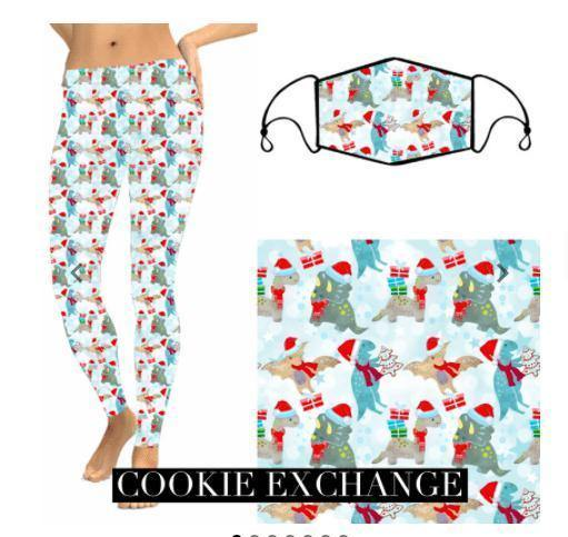 Christmas Leggings - Cookie Exchange - Feather & Quill Boutique