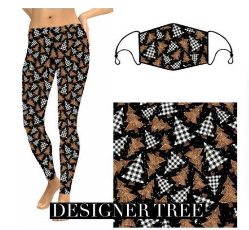 Christmas Leggings - Designer Tree - Feather & Quill Boutique