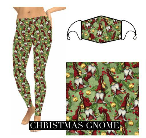 Christmas Leggings - Gnomes - Feather & Quill Boutique