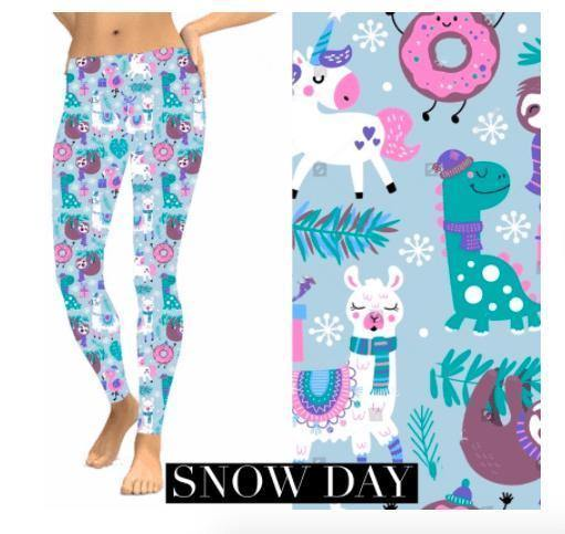 Christmas Leggings - Snow Day - Feather & Quill Boutique