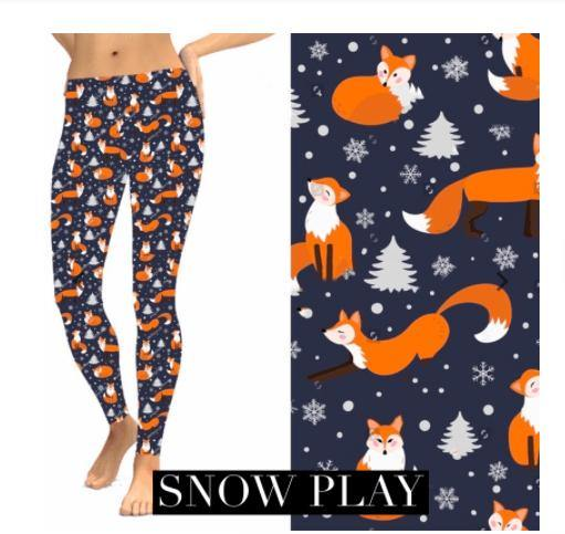 Christmas Leggings - Snow Play - Feather & Quill Boutique
