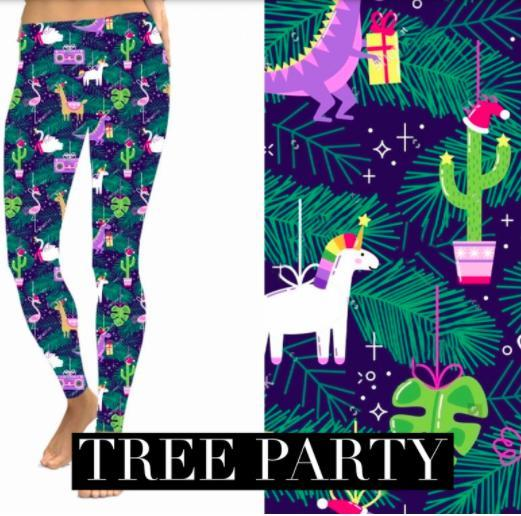 Christmas Leggings - Tree Party-Feather & Quill Boutique
