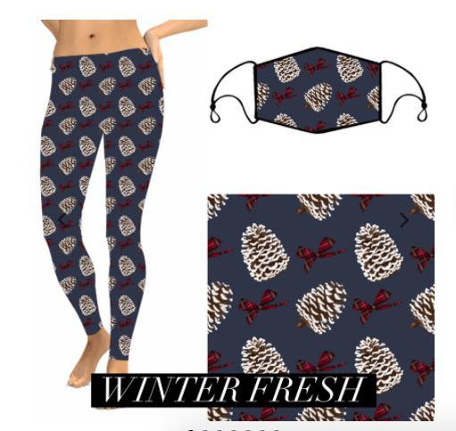 Christmas Leggings - Winter Fresh - Feather & Quill Boutique