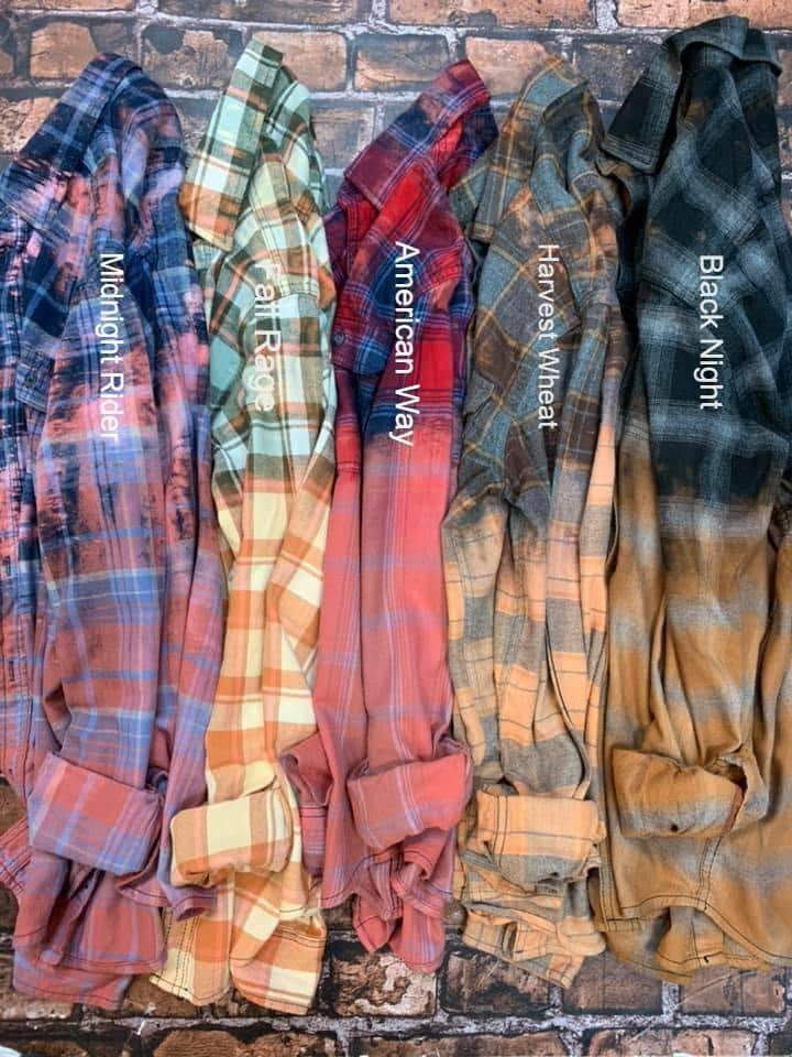 Distressed Flannel Shirt - Feather & Quill Boutique