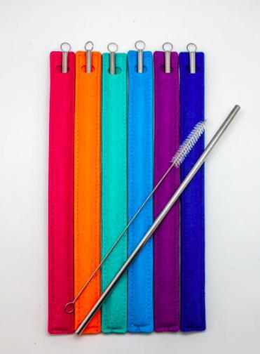 Eco Straw - Stainless Steel reusable straw-Feather & Quill Boutique