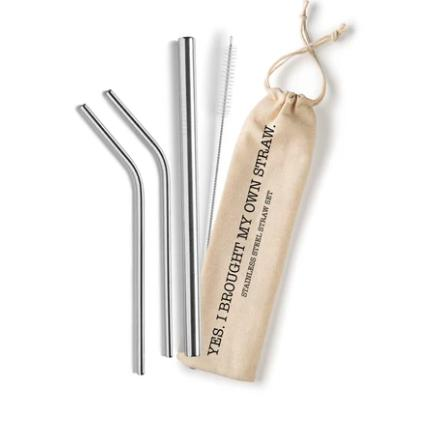 Eco straw - Stainless steel reusable straws-Feather & Quill Boutique
