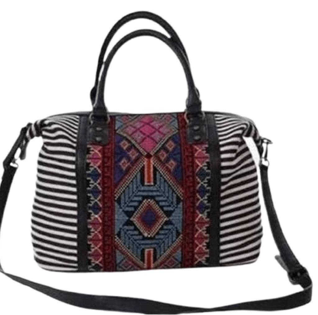 Embroidered Stripe Aztec Purse - Feather & Quill Boutique