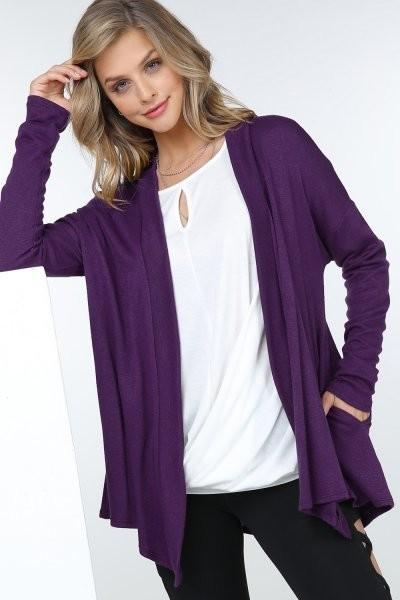 Faux Cashmere Cardigan-Feather & Quill Boutique