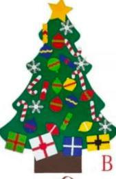 Felt Christmas Trees - Feather & Quill Boutique